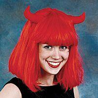 Red Devil Pageboy Wig