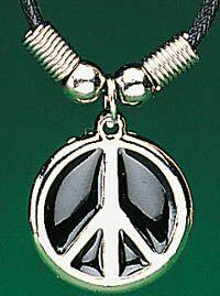 Pewter Peace Necklace