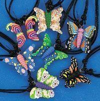 Fimo Butterfly Necklace