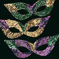 Sequin Mardi Gras Rainbow Masks