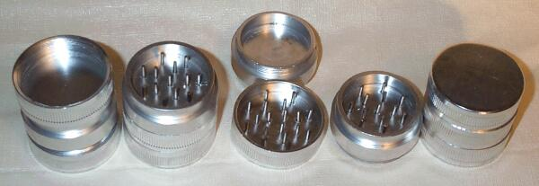 Aluminum Spice Grinder with Extra Storage Compartment